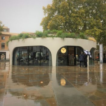 Award-winning project to build a ground-breaking café in a historic London square. | Shay Murtagh Precast