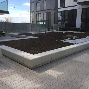 Precast hard landscaping wall units for JP Dunn at Greenwich Peninsular Plot M0104 | Shay Murtagh Precast